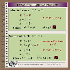 aim exponential equations using logs course alg
