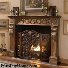 full size of living room antique cast iron fireplace surround brass fireplace screen with glass