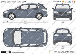 Coupe Series bmw 2 series active tourer : The-Blueprints.com - Vector Drawing - BMW 2-Series Active Tourer F45