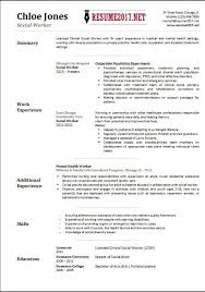 A Professional Resume Template For A Social Worker Want It In