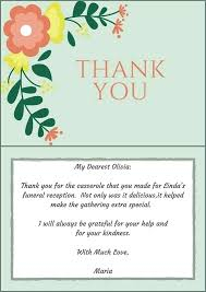 Blank Thank You Card Template Word Thank You Card With Flowers Template Simple Funeral Program