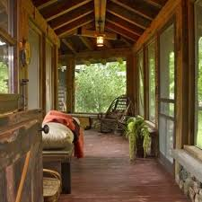 Rustic sunroom decorating ideas Sunroom Furniture Home Elements And Style Thumbnail Size Screened Porch Designs Rustic With Screen Plants And Trees Country Screened Porch Designs Rustic With Screen Plants And Trees Country