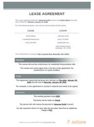 The american apartment owners association (aaoa), reports lease terms include, but are not limited to, rental location and dates of the rental. Condo Lease Agreement Pdf Templates Jotform