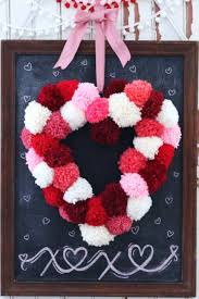 valentines day office ideas. Outstanding Valentines Day Decoration Pom Heart Wreath Ideas For Office