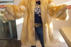 andrea red fox fur coat