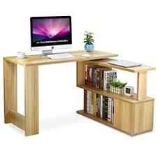 Computer tables for home office Corner Amazoncom Tribesigns Modern Lshaped Desk Rotating Computer Desk Pc Laptop Study Table Workstation With Storage Shelves Home Office Light Walnut Kitchen Pinterest 23 Best Officehome Computer Desk Images Computer Desks Computer