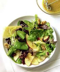 simple mixed green salad. Plain Simple Apple Parmesan Mixed Green Salad And Simple