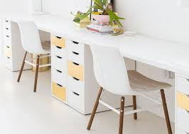 long office desk. IKEA Storage Towers With A Long Piece Of Countertop, Or Tabletops (how Do They Come? Office Desk S