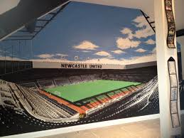 Newcastle United Bedroom Wallpaper Newcastle Unites St James Park Painted Wall Mural Howay The Lads