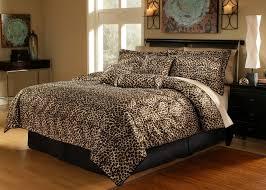 7 piece leopard animal kingdom bedding comforter set inside print