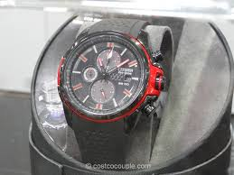 watch citizen eco drive red and black drive watch
