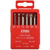 <b>Набор бит Felo</b> Profi SL/Z (+/-) 73 мм 6 предметов в кейсе, цена ...