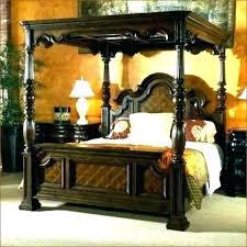 Wood Canopy Bed King Iron Size Metal Oak Black Queen En – Chrishogg