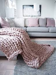 Chunky Knitted Blankets Throws