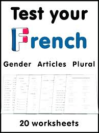 Learning French Worksheets For Beginners Download Them And Try To ...