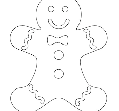Gingerbread Man To Color Bracessingaporeinfo