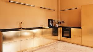 Kitchen Interiors Design Awesome Reform Hacks IKEA Cabinets To Create Goldhued Kitchen For Stine Goya