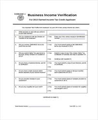 Income Verification Form Enchanting Free Verification Forms