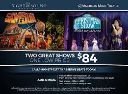 sight sound theatres and american theatre package