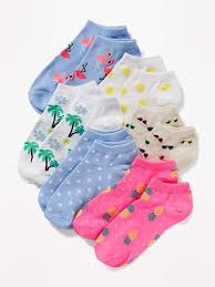Old Navy <b>Printed</b> Ankle <b>Socks</b> 6-Pack for Girls | Колготки, Чулки и ...