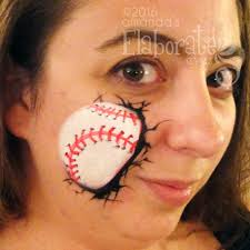basketball face painting design