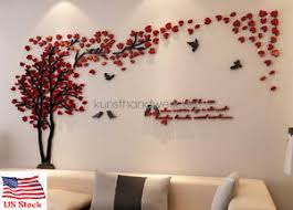 image is loading us couple tree 3d wall stickers living room  on 3d wall art decor diy with us couple tree 3d wall stickers living room bedroom mural decals