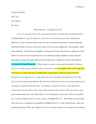 example of essay title apa essay format title college page  last 1student last eng 102prof boltondue date philip marlowe example of essay title