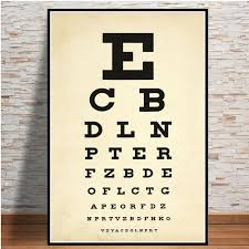 Eye Exam Snellen Chart Us 1 94 50 Off Modern Eye Test Snellen Chart Best Eyes Test Deals Poster And Prints Art Paintings Wall Pictures For Living Room Home Decor In