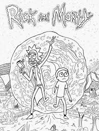 Rick And Morty Coloring Pages Unique Rick And Morty Coloring Page