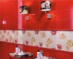 Modern Wall Tiles In Red Colors Creating Stunning Bathroom Design Impressive Bathroom Designer Tiles