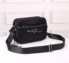 Man Cross Body Bag Designer New Excellent Quality Cross Body Bag For Men Orignal Messenger Bag Designer Satchel Waterproof Mans Shoulder Bag Parachute Fabric Purse Black Leather
