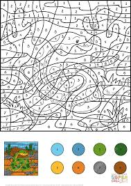 Small Picture Snake Color by Number Free Printable Coloring Pages