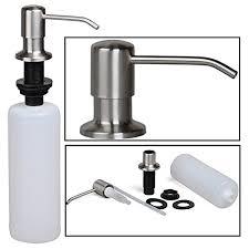 urbest sink soap dispenser stainless steel kitchen sink countertop soap dispenser built in hand soap dispenser pump large capacity 17 oz bottle
