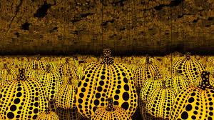 <b>Japanese</b> artist Yayoi Kusama's <b>pumpkin</b> installation reflects the ...