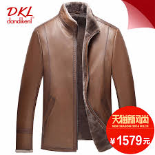get ations ed haining leather leather collar male goat leather wool fur leather jackets men s jackets