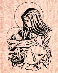 Free Scroll Saw Patterns Pdf Custom Mary And Jesus Downloadable Scroll Saw Pattern WoodworkersWorkshop