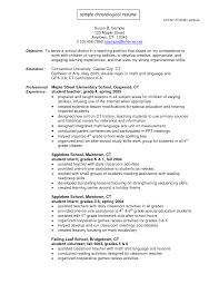 Examples Of Chronological Resumes Chronological Resume Best 25