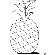 Cute Fruit Coloring Pages Pineapple Page Printable For Free Cute