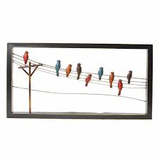 >birds on a wire wall decor sudaak  bird on wire wall decor pictures to pin pinterest birds art l metal flower home hobby