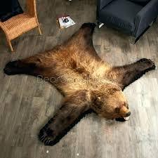 idea faux polar bear rug for faux bear rug 5 foot 7 inch grizzly bear rug best of faux polar bear rug
