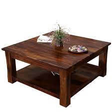 ... Coffee Table, Astonishing Brown Wood Square Rustic Coffee Table With  Storage Idea: Extraordinary Square ...