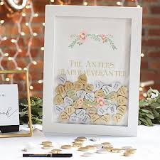 Sign Book For Wedding Heart Drop Guest Book Shadow Box Personalized