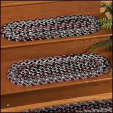 braided rug stair treads great sisal rug stair runners