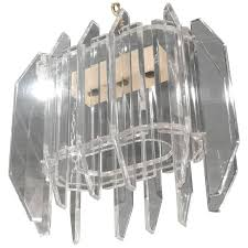 vintage geometric lucite chandelier