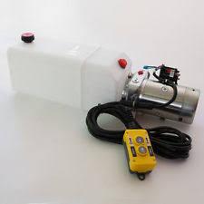 12 volt hydraulic pump single acting hydraulic pump 12v dump trailer 8 quart