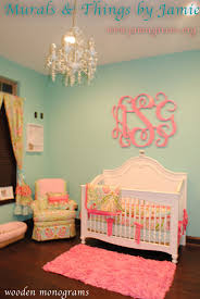 extra large wooden monogram script or circle wood monogram for wall inside baby girl nursery themes with regard to your property