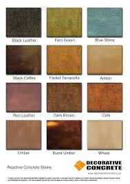 Patina Color Chart Patina Stains Are Reactive Acid Stains For Pattern Imprinted