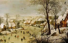 pieter bruegel l ancien paysage d hiver avec patineurs et trappe à oiseaux