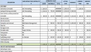 construction estimate sample download construction estimating and budgeting worksheet with