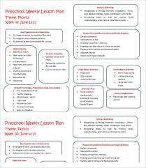 Weekly Lesson Plan Templates Weekly Lesson Plan Template 10 Free Word Pdf Documents Download